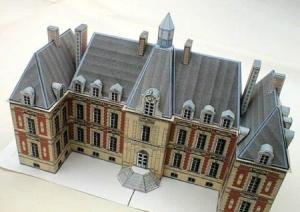 Papercraft imprimible y armable del Chateau de Sceaux en Francia. Manualidades a Raudales.